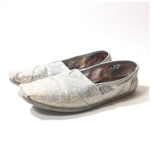 Bobs Silver Sequin Size 10
